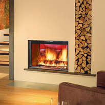 Stella 3 double sided inset stove
