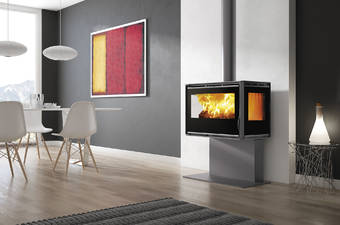 Carbel RA-85 Plus 3 sided stove