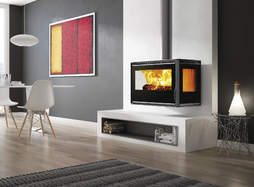 Carbel RA-85 Plus 3 sided stove suspended