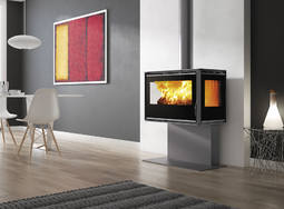 Carbel RA-85 Plus 3 sided stove on stand